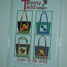 "Sewing Pattern Tammy Tadd Designs Corn to be Wild 12X12X5"" Cute Tote"