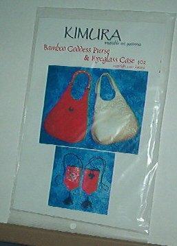 Sewing Pattern Kimura 402 Bamboo oddess Purse + Eyeglass Case