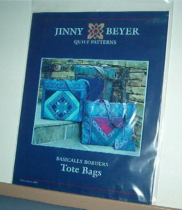 Sewing Pattern Jimmy Beyer Chevron Stripe Tote Bag 14 X 14 X 6""
