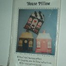 "Sewing Pattern House Pillow Applique included 16X 18"" Cute"
