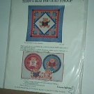 "Sewing Pattern Country Appliques Teddy Bear  Paw Quilt (46 X 46"") & Hoop"