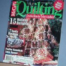Magazine - McCall's  Quilting December 2002 Holiday decor and Christmas stockings