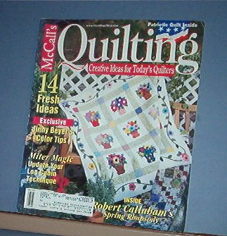 Magazine - McCall's Quilting April 2002 Patriotic qult pattern and more
