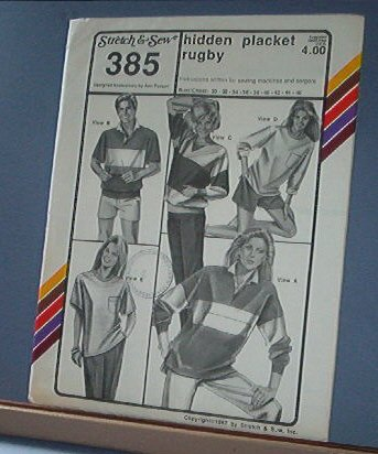 Stretch & Sew Sewing Pattern 385 Hidden Placket Rugby Topo Sizes 30 - 46