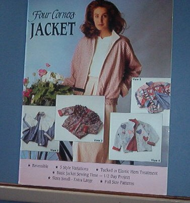 Sewing Pattern Four Corners Jacket Five variations Small - Xtra Large