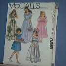 Sewing Pattern McCall's 7895 Fancy Girls' Dress Wedding Parties Size 7