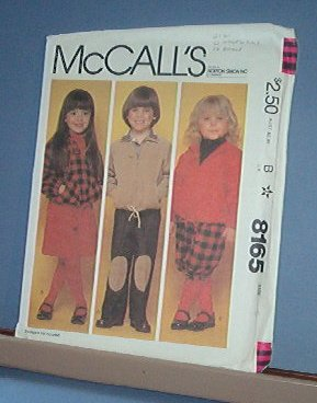 Sewing Pattern McCall's 8165 Kids Pants, Knickers, Hoody, Jacket and Culottes Size 5 Cute
