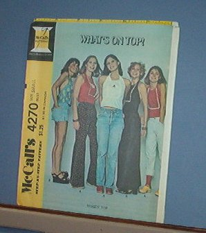 Sewing Pattern McCall's 4270 VARiety of Summer Tops Size  10-12