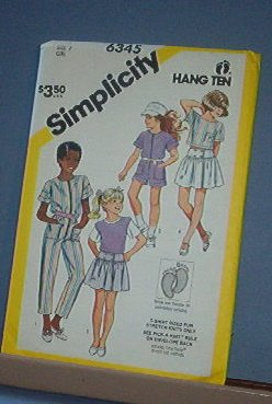 Simplicity Sewing  Pattern 6345 Girls Skirt, crop top, jumpsuit Size 7