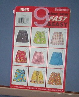 Butterick Sewing Pattern Butterick 4963 Golf Skorts Shorts Size 7  8 10