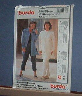 Sewing Pattern Burda Pants and Big Shirt / Jacket Size 18 - 28