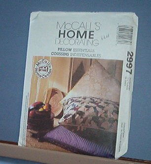 Sewing Pattern McCall's Pillow Essentials 5 styles  large square, box bolster, round, cube
