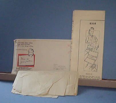 Sewing Pattern Vintage 8305 Rose Mary Patterns Bed cape, accessory bags booties for sleeping