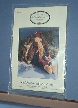 """Sewing Pattern DeCuylper Trading 135 Old Fashioned 18"""" Santa with sled (included)"""
