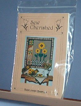 "Sewing Pattern Sew Cherished Sunflower Sampler Quilting 32"" Square + Placemats"