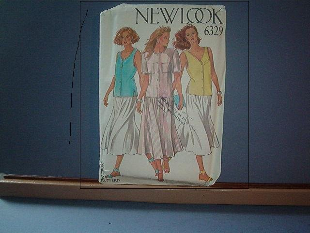 Sewing Pattern New Look 6329 - 3 piece ensemble, blouse, skirt and jacket.  Size 8 - 18