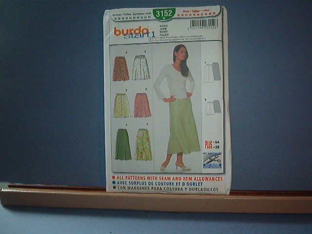 Sewing Pattern  Bruda 3152 - Six skirts - Sizes 10 -28
