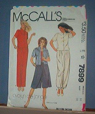Sewing Pattern McCall's Evelyn de Jonge Pants Suit w/ culottes - Size 8 - 16