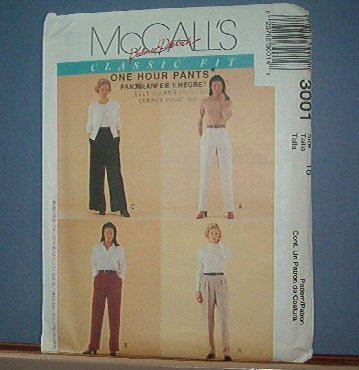 Sewing Pattern - McCall's Palmer Pletsch One Hour Pant Size 10 -24