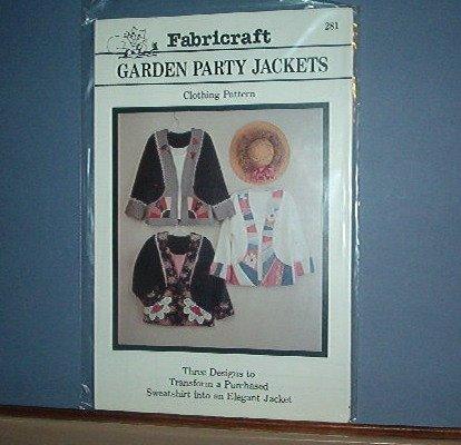 Fibrecraft Pattern #281 Garden Party Jackets - 3 styles Pretty Sizes Medium - XXL