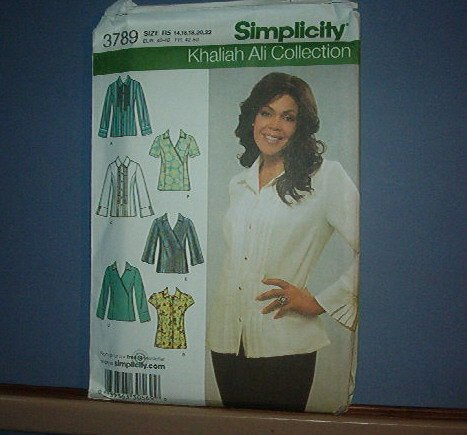 Sewing Pattern: Simplicity 3789 Khaliah Ali Collection 6 styles Pretty Size 14 -22
