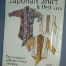 Sewing Pattern:  Japonais Shirt & Vest by Design & Sew #310 Size 4 through 22