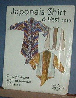 Sewing Pattern:  Japonais Shirt & Vest by Design & Sew #310 Size 4 through 22