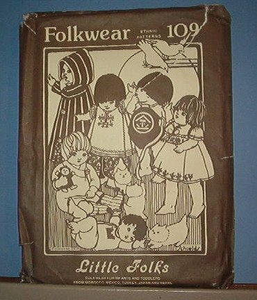 Sewing Pattern:  Old Folkwear 109 Little Folks clothing Size 6 Mos to 4 years