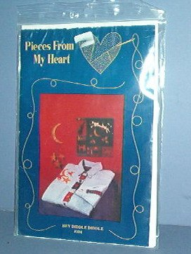 Sewing Pattern Pieces From My Heart Hey Diddle Diddle11X11 Quilt, Shirt, Tin Moon