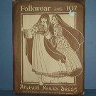 Sewing Pattern Folkwear 107 Afghani Nomad Dress Size 6 - 16