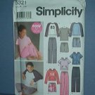 Simplicity Sewing  Pattern 5321 Pajamas Boys and Girls Size 7 - 16