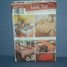 Sewing Pattern Simplicity 5530 Table Top Accessories and Chair Pad One size
