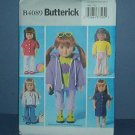 "Sewing Pattern B4089 Butterick, Doll clothes 18"" American Girl Doll."
