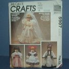 "Sewing Pattern McCall's Crafts 5907 Beautiful Doll Wardrobe  13, 14 & 16"" dolls"