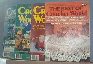 Crochet Pattern Magazine  - Crochet World - The Best Of, Dec 1985, Apr 1986 & Feb 1989