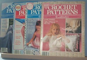 Crochet Pattern Magazine  - Crochet Patterns by Herrschners - Jan - October (4 Issues) 1990