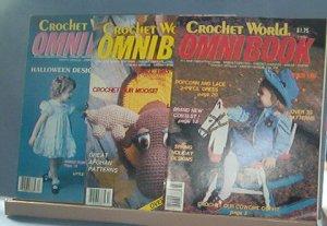 Crochet Pattern Magazine  - Crochet World Omnibook - Spring & Fall 1986 & Fall 1985