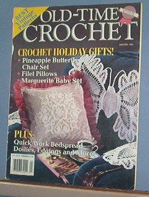 Crochet Pattern Magazine  - Old Time Crochet  - Winter 1990