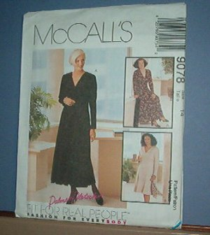 Sewing Pattern McCall's  9078 Dress in two lengths  Size 14