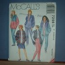 Sewing Pattern McCall's 7298  Misses unlned jacket, vest, top, skrt and pants sizes 8 - 18