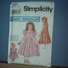 Simplicity Sewing  Pattern Child 7550 Pretty Dress Plus Doll Dress (18 inches) Size 3-6