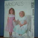 Sewing  Pattern McCall's M4430 Girl's Dress Very Sweet Size 3-6