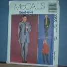 Sewing Pattern McCall's 2906 unlined jacket, top and pullon pants Size 16-18