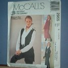 Sewing Pattern McCall's 2955 Unlined vest, pull on skirt and pants Size 14 -18