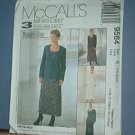 Sewing Pattern McCall's 9564 Dress & Unlined Jacket, Size 14 16 18