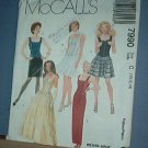 Sewing Pattern McCall's 7990 Formals, five styles, short and long, Size 10-14