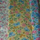 Sewing Fabric - Quilting Pieces - 6 each - Small Flowers - Al