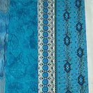 Sewing Fabric - Quilting Pieces - 3 each - Blues prints