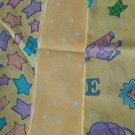 Sewing Fabric - Quilting Pieces  - 3 eacj - child's yellow pattern