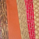 Sewing Fabric - Quilting Pieces  -6 each - prints, bricks, boards browns